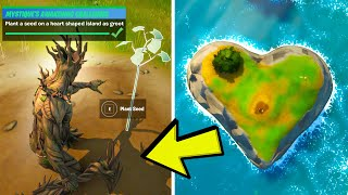Plant a Seed on a Heart Shaped Island as Groot