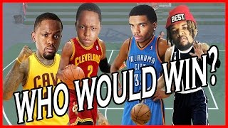 WHO WOULD WIN? RUSS & KD OR KYRIE & LEBRON!! - NBA 2K16 Head to Head Blacktop Gameplay