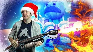 COOKING WITH A FLAMETHROWER - Overcooked Christmas [#2]