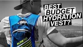 Best Running Hydration Pack On A Budget // AONIJIE Running Hydration Vest
