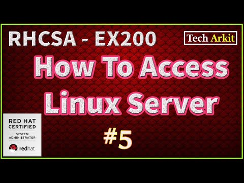 How to Access Linux Server Remotely   RHCSA Certification #5 ...