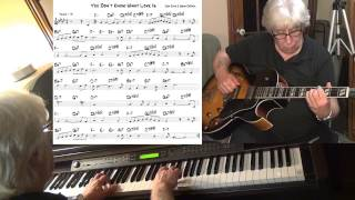 You Don't Know What Love Is - guitar & piano jazz cover - Yvan Jacques