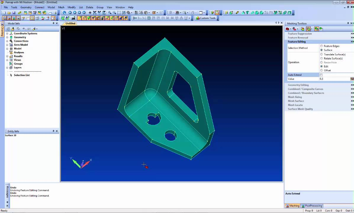 Femap 11 Geometry Updates
