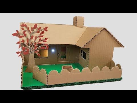 Download Building cardboard House -Garden Villa - Dream-house
