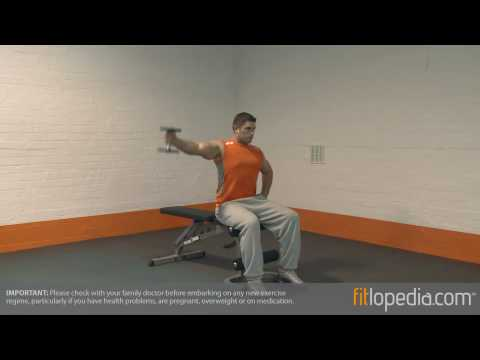 Dumbbell One Arm Seated Lateral Raise