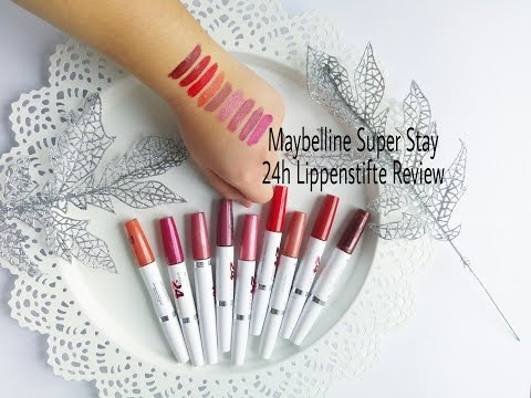 Maybelline Super Stay 24h Lippenstifte Review || Lisa's Beautyecke