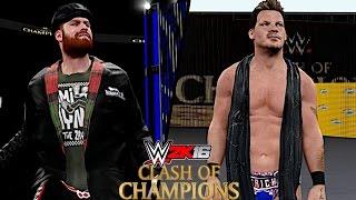 WWE Clash of Champions 2016: Sami Zayn vs. Chris Jericho