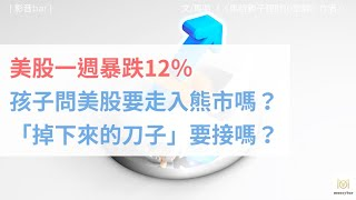 【親子理財】美股一週暴跌12%,孩子問美股要走入熊市嗎?「掉下來的刀子」要接嗎?(影音)
