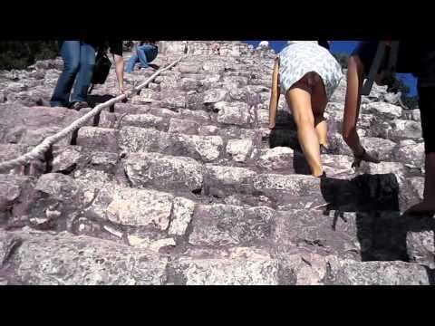climbing Mexico Mayan COBA ruin !
