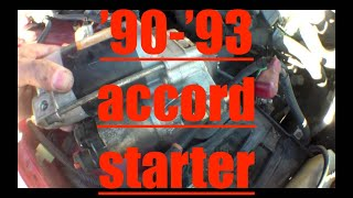 CLICKING Starter motor Replacement Honda Accord √ Fix it Angel