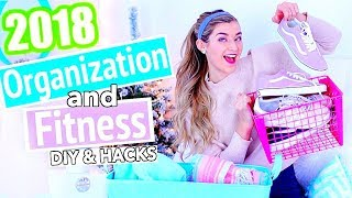 10 Ways to Have the Best 2018! DIY Organization & Fitness Tips!