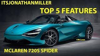 NEW YOUTUBE VIDE0-TOP 5 FEATURES OF THE MCLAREN 720S SPIDER