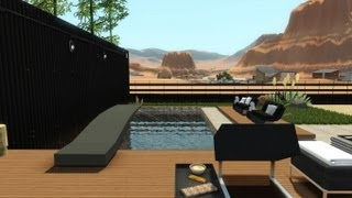 The Sims 3 - Modern desert retreat featuring MarcusSims91 + DOWNLOAD  1080p