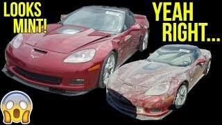 MINT Looking Corvette ZR1 was COMPLETELY SUBMERGED In MUCK