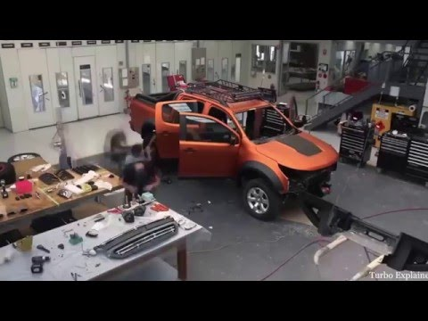Chevrolet Colorado 2016 Xtreme Concept Construction Timelapse Video