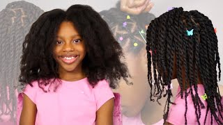 Rubber Band Protective Style & Two Strand Twists On Kids Natural Hair