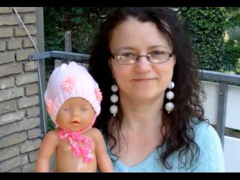 Babymuetze in Rosa stricken