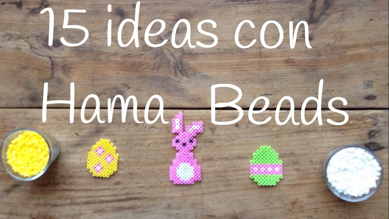 15 manualidades con hama beads || Perler beads tutorial