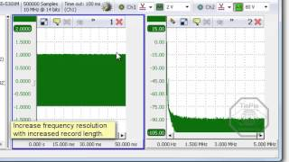 Using the spectrum analyzer