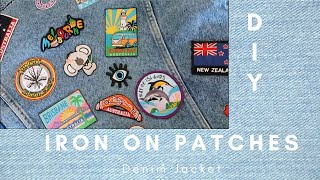 HOW TO IRON ON PATCHES TO A DENIM JACKET | Quick And Easy DIY | Chloe Ellis
