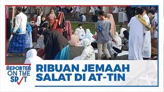 Ribuan Jemaah Tunaikan Salat Idulfitri di Masjid Agung At-Tin