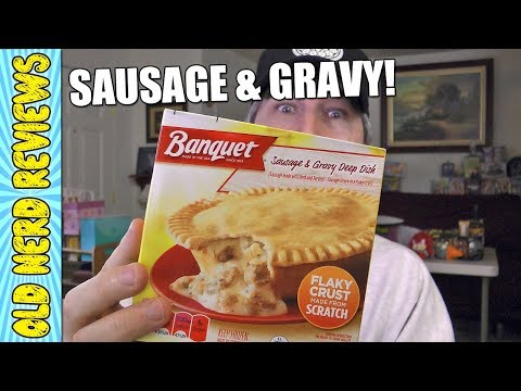 Banquet Sausage & Gravy Deep Dish REVIEW (Eating The Dollar Stores) 💵💲