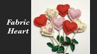 Fabric Heart / 패브릭 하트장식