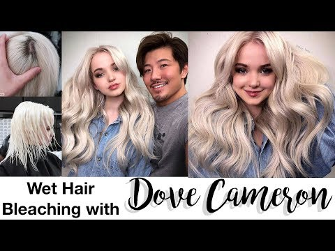 Wet Hair Bleach with Dove Cameron