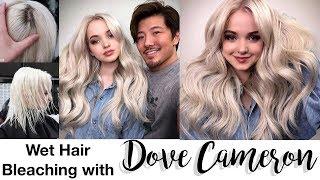 Wet Hair Bleach With Dove Cameron