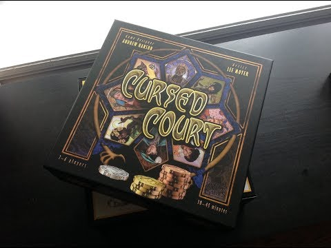 The Board Game Kaptain's Unboxing for Cursed Court