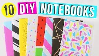 10 Easy DIY Notebooks For Back To School! | Easy DIY School Supplies! | Ellen Kelley