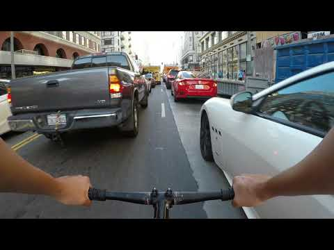Track bike urban cycling with the GoPro Hero 5 Black