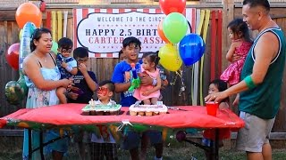CARTER & CASSIDIS 2.5 CIRCUS BIRTHDAY PARTY!