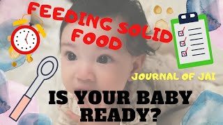 Feeding babies: When to start solid food #babies #solids #smartparenting