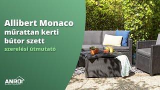 Allibert Monaco műrattan kerti bútor szett - szerelési útmutató