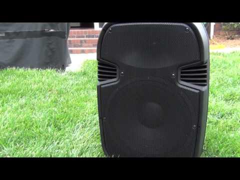Pyle Pro 15 Inch Watt Portable Powered PA Speaker