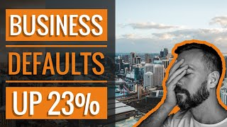 Business Defaults Up 23% | Zombie Companies Are Failing