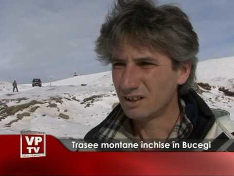 Trasee montane închise în Bucegi