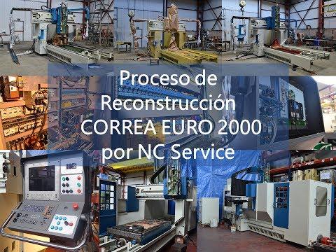 Fresadora Puente CORREA EURO2000 del año 2000 reconstruida NC Service