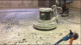 Grinding concrete floor for tile or other finished floor