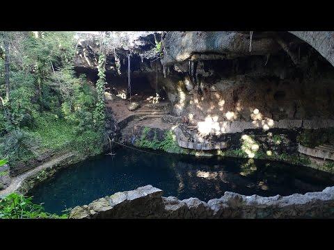 Cenote Zaci in Valladolid Yucatan Mexico 2016 GoPro Hero 4 Cenotes Cenote Cliff Jumping UHD 4K