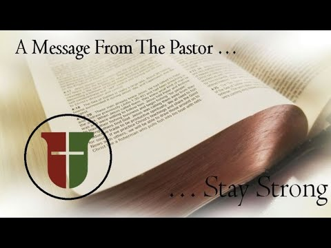 A message from Pastor Bobby Adams