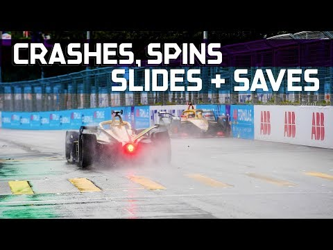 Best Crashes, Spins, Slides and Saves! | 2019 HKT Hong Kong E-Prix