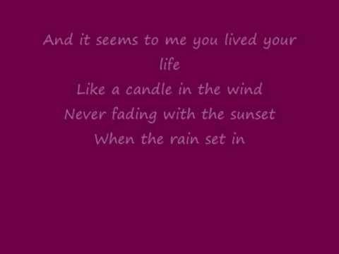 Elton John - Candle In The Wind (Lyrics)