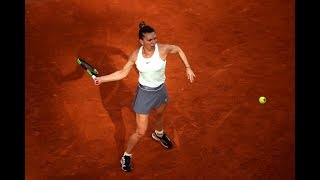 Simona Halep Practices In Rome