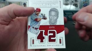 2016 Panini National Treasures Baseball 4 Box Case Break #28
