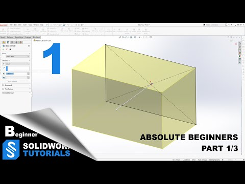 SolidWorks Tutorials/ Learning SolidWorks for beginners Part (1/3 ...