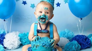 First(1st) Birthday PhotoShoot İdeas For Baby Boy.Photosession Ideas At Home #partydecoration #baby