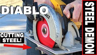 DIABLO STEEL DEMON CIRCULAR SAW BLADE REVIEW! -7 1/4 BLADE- CERMET STEEL CUTTING 48 TEETH