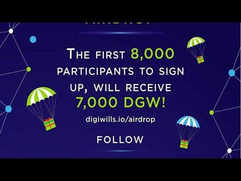 Airdrop Digiwills dando ate U$68 Dólares , Muito Fácil.